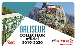 Carte de baliseur collecteur officiel FFRandonnée