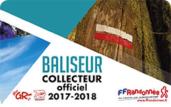 Carte de baliseur collecteur officiel FFRandonnée 2017-2018