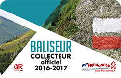 Carte de baliseur collecteur officiel FFRandonnée 2016-2017