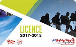 Carte de licence FFRandonnée 2017-2018