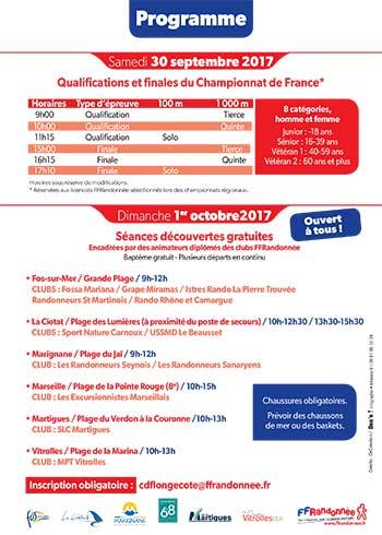 Programme 3e Championnat de France