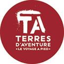 Logo terres d'aventure - voyage à pied - partenaire FFRandonnée