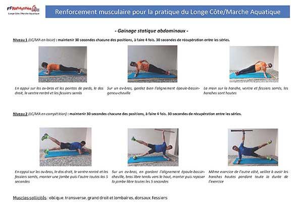 renforcement musculaire longe côte marche quatique ffrandonnée