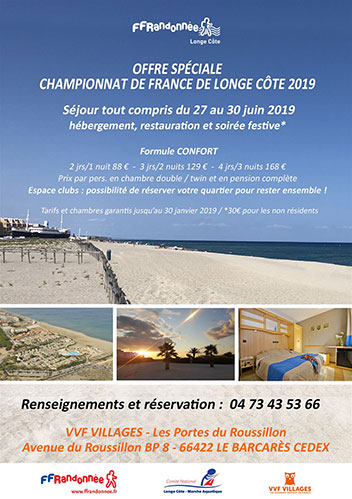 5ème Championnat de France Longe Côte du 27 au 30 juin 2019 - Plage du Lido au Bacarès