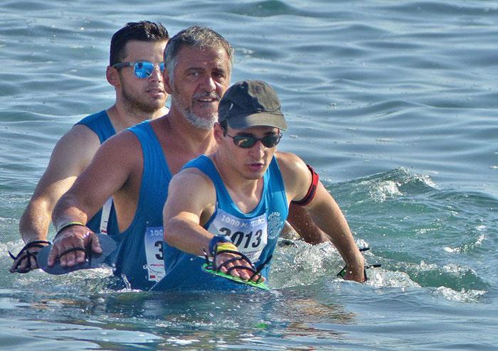 Longe côte marche aquatique FFRandonnée homme