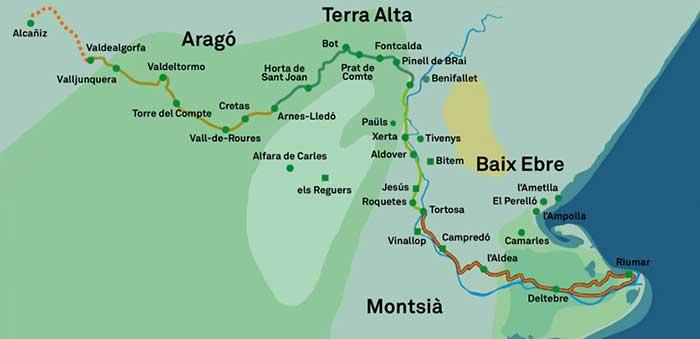 Carte Via Verde - Crédit : office du tourisme